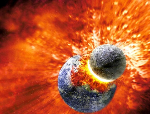 La collisione planetaria che diede origine alla Luna rese possibile la vita sulla Terra