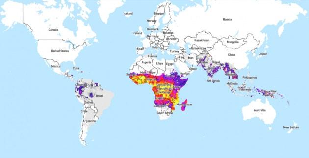 L'atlante globale della malaria