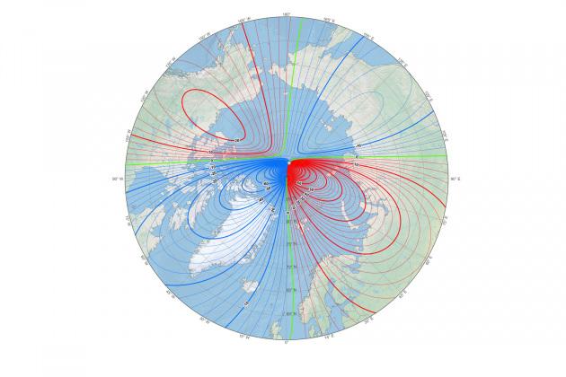 Polo Nord Magnetico: la nuova mappa