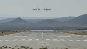 Stratolaunch, primo volo, atterraggio.