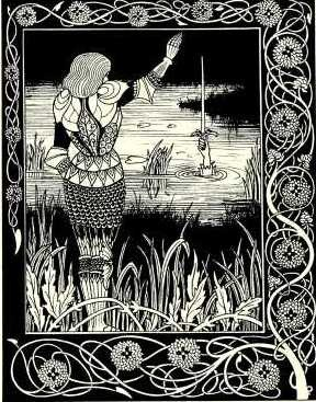 sir bedivere excalibur spada dama del lago bambina