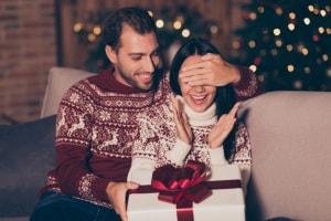regali, natale, coppia