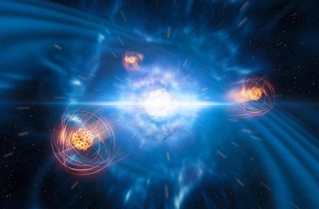 Gli elementi chimici pesanti possono nascere dalla collisione tra stelle di neutroni