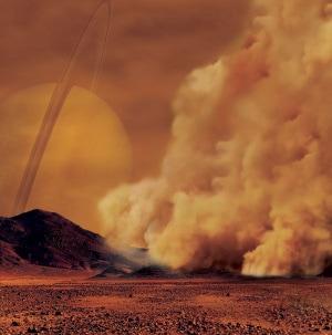 Le tempeste di sabbia dalla superficie di Titano.