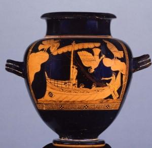 Siren Vase, vaso delle Sirene, Ulisse, Sirene, Odissea