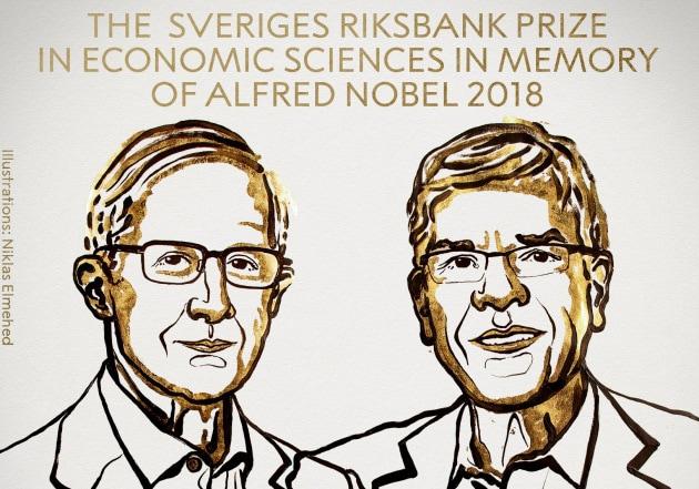 Il Nobel per l'Economia 2018 a William Nordhaus e Paul Romer