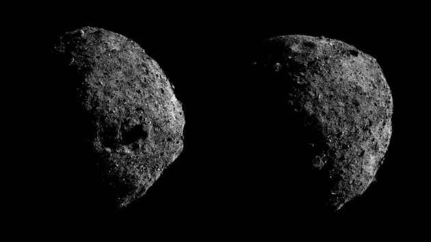 OSIRIS-REx: due foto ravvicinate dell'asteroide Bennu