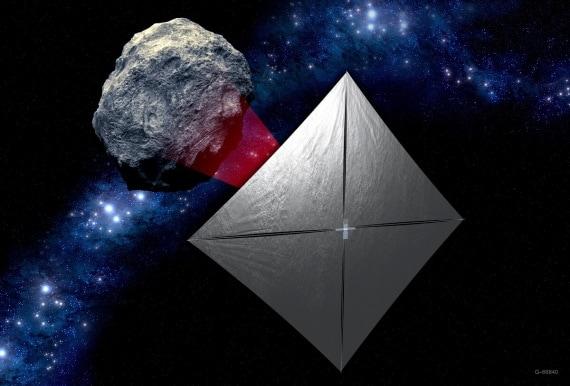 navi stellari, esplorazione dello spazio, NEA Scout, propulsione laser, sonde di esplorazione
